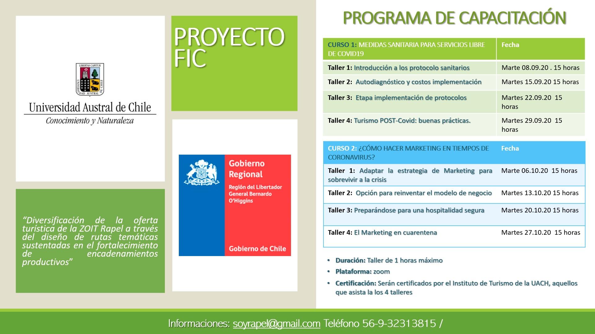 Fotografía de Proyecto FIC - Capacitación