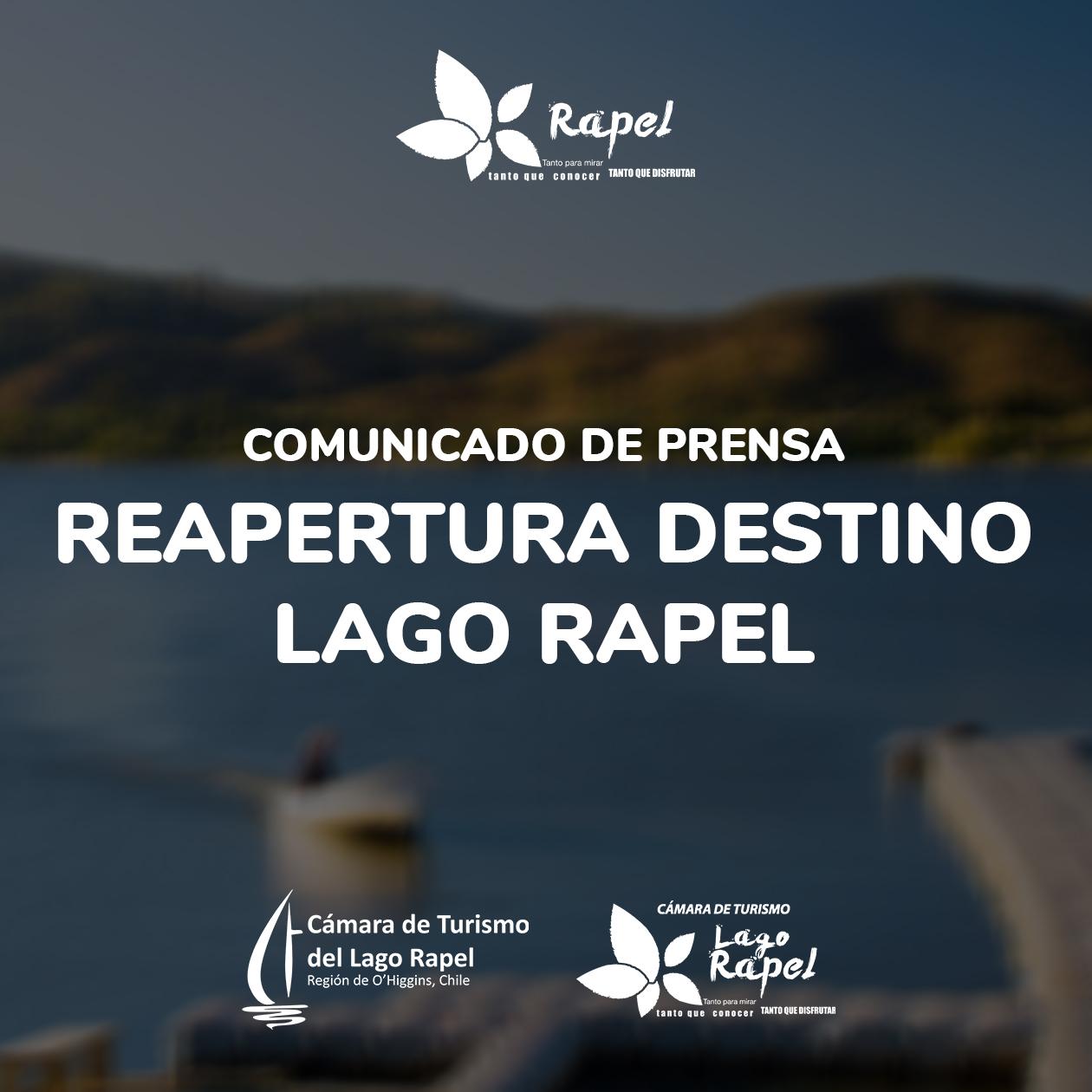 Fotografía de Comunicado Reapertura Destino Lago Rapel