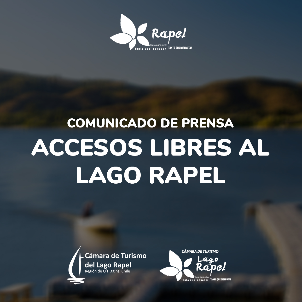 Fotografía de Comunicado Accesos Libres al Lago Rapel